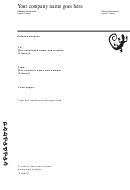 A4 Business Fax Cover Sheet