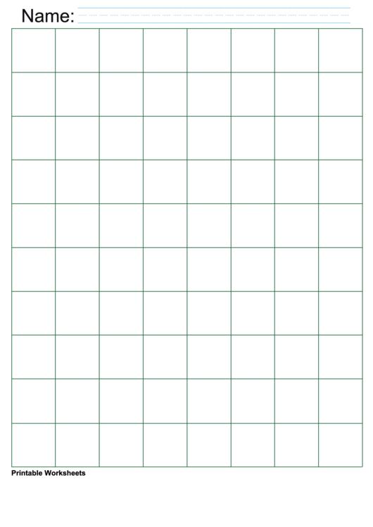 Green Inch Graph Paper Printable pdf