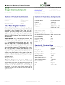 Material Safety Data Sheet - Oxygen Cleaning Compound