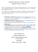 Checklist For Filing An Appeal With The Minnesota Court Of Appeals