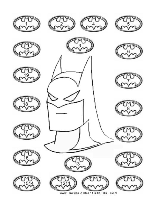 Batman Reward Chart Template