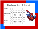 Spiderman Weekly Behavior Chart