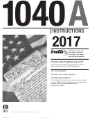 Instructions For Form 1040a - U.s. Individual Income Tax Return - 2017