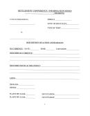 Settlement Conference Information Sheet