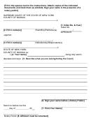 Affidavit - New York Supreme Court