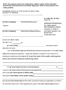 Affidavit In Support Of Temporary Restraining Order Against A Public Officer, Board, Or Municipal Corporation - New York Supreme Court