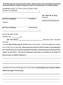 Affidavit In Support - New York Supreme Court