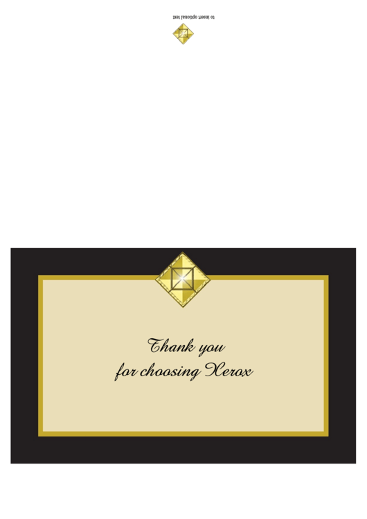 Fillable Full Size Thank You Note Card Template Printable pdf