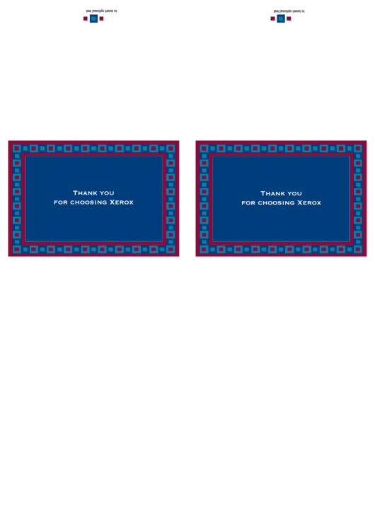 Fillable 2 Square Thank You Note Card Template Printable pdf