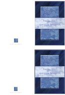 Blue Full Size Thank You For Your Business Note Card Template