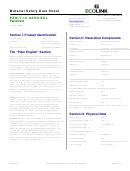 Material Safety Data Sheet - Pen-t-10 Aerosol Penetrant