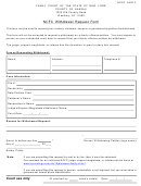 Ncfc Withdrawal Request Form - Nys Family Court