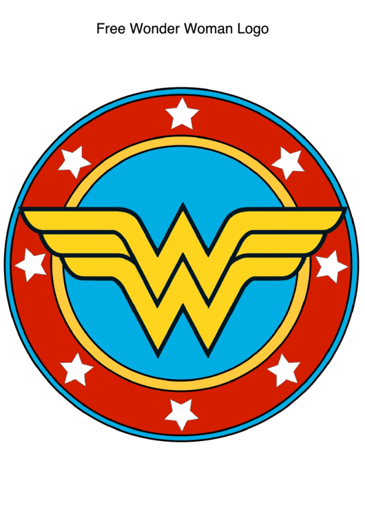 Wonder Woman Logo Template Printable Pdf Download