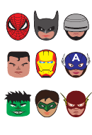 Super Hero Logo Template Set