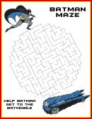 Batman Maze Game Template