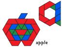 Color Apple Pattern Block Template