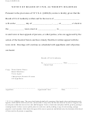 Form 4404pn - Notice Of Board Of Civil Authority Hearings