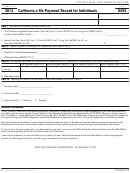 Form 8455 - California E-file Payment Record For Individuals - 2012