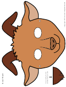 Brown Goat Mask Template