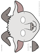 White Goat Mask Template