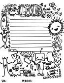 10 Things I Love About You Letter Template