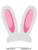 Bunny Ears Photo Booth Prop Template