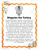 Disguise The Turkey Coloring Sheet