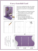 Curvy Gatefold Card Template