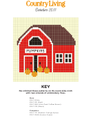 Pumpkin Barn Cross Stitch Graph Paper