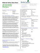 Material Safety Data Sheet - The Leaf Project Car And Truck Shampoo