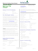 Material Safety Data Sheet - The Leaf Project Bath And Tile Cleaner