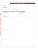 Portfolio Evaluation Form