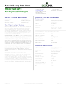 Material Safety Data Sheet - Heavyweight - Non-butyl Industrial Detergent