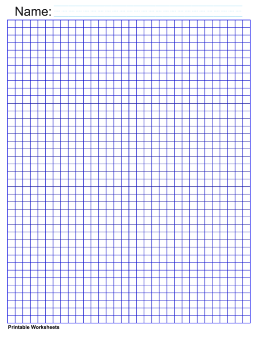 1/4 Inch Deep Blue Graph Paper