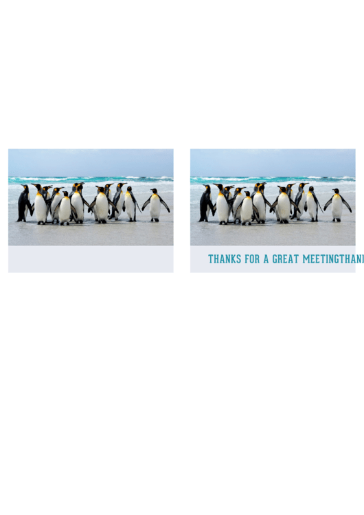Fillable Thanks For A Great Meeting Card Template Printable pdf