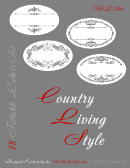 Country Living Style Gray Label Template Set