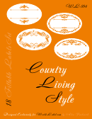 Country Living Style Orange Label Template Set
