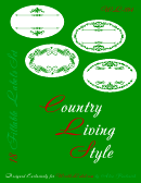 Country Living Style Green Label Template Set