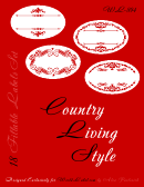Country Living Style Red Label Template Set