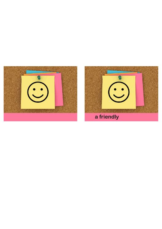 Fillable Smile Friendly Reminder Template Printable Pdf