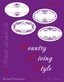 Country Living Style Label Template Set