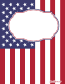 American Flag Binder Cover Template