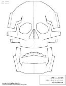 Robot Mask Template