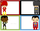 Superhero Card Template Set