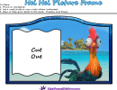 Hei Hei Picture Frame Template