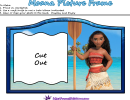 Moana Picture Frame Template