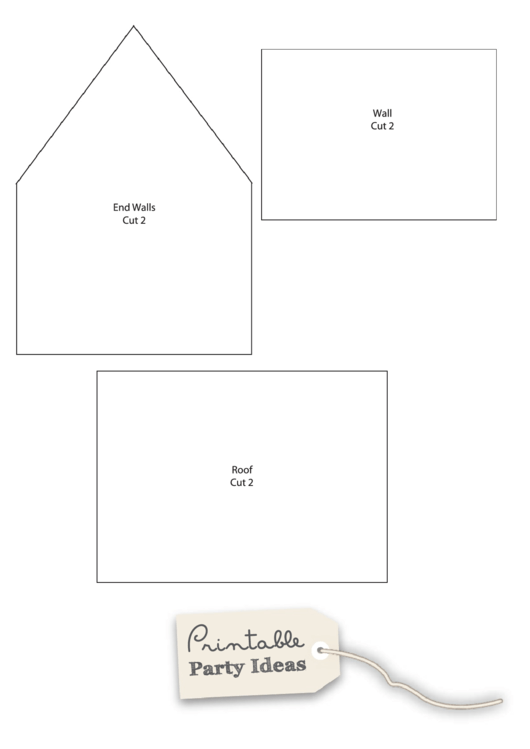 small gingerbread house template printable pdf download