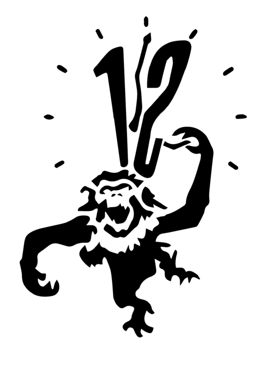 12 Monkeys Stencil Template