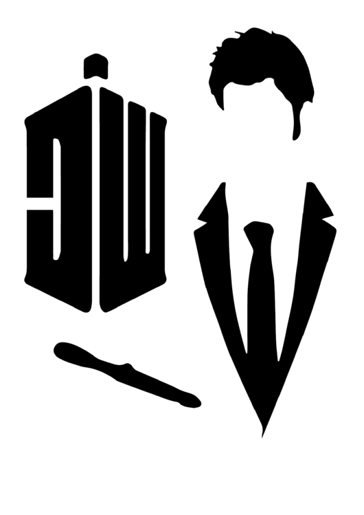 Doctor Who Stencil Template