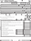 Form 100s - California S Corporation Franchise Or Income Tax Return - 2013